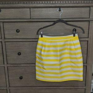 Kate Spade Yellow & White Stripe Skirt Size 2